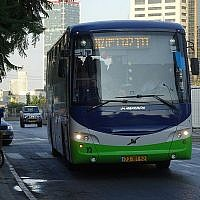 Kavim bus on route 112 to Modi'in. (Source: Wikipedia. Author: Danbus43Maalit72)