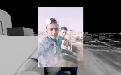 Screenshot from B'Tselem video showing the two youths who were killed by the IDF