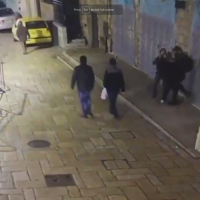Screenshot from Israeli Police's video showing one of the attacks