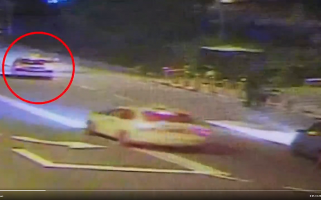 PM of Israel video on Twitter circles the car which perpetrated the drive-by shooting