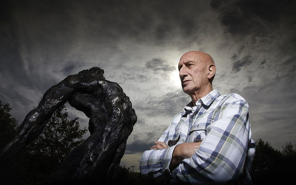 The Last Survivors - Maurice Blik with one of his sculptures - ((C) Minnow Films Ltd - Photographer: Richard Ansett)