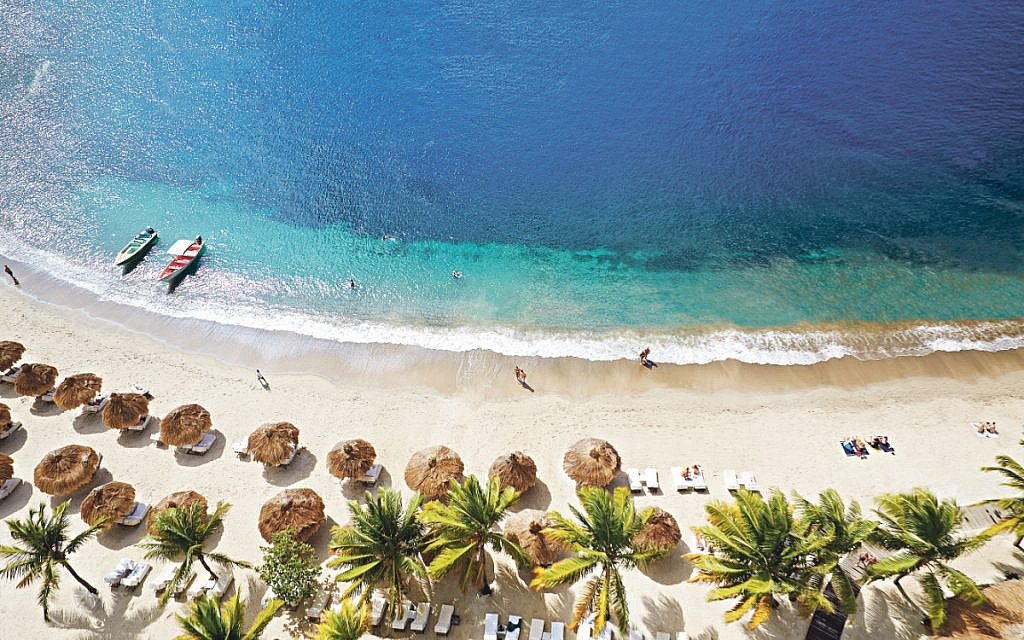 Visitors to St Lucia can enjoy looking at paradise