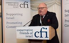 Lord Pickles speaking at a Conservative Friends of Israel parliamentary reception