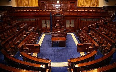 Dáil Chamber, Ireland's lower house of parliament. (Source: Wikimedia Commons. Author: AnCatDubh)