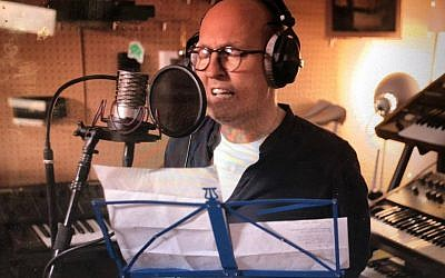 Mike Jacobs recording his single