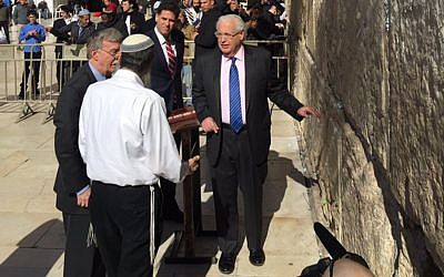 Bolton was accompanied on his tour of Jerusalem by his Israeli counterpart, Meir Ben-Shabbat, Israel's Ambassador to the U.S. Ron Dermer, and U.S. Ambassador to Israel David Friedman. Source: Twitter