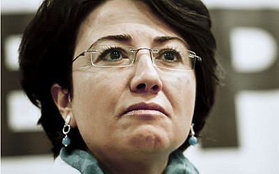 Haneen Zoabi. Source: Wikipedia Commons. Author: Coletiva com - Palestina Livre)