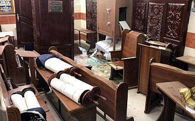 Image posted by Israel's president Reuven Rivlin of the vandalised synagogue