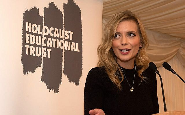 Rachel Riley at the Holocaust Educational Trust Lord Merlyn-Rees event on 22 January 2019