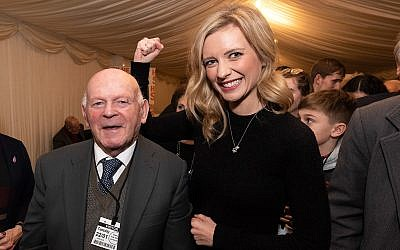 Communal heroes Rachel Riley and Ben Helfgott
