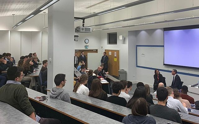Israel & Politics societies arranged the talk which went by without protest