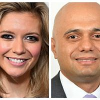 Rachel Riley and Home Secretary Sajid Javid