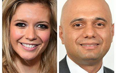 Rachel Riley and Home Secretary Sajid Javid