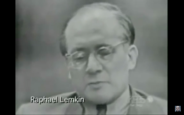 Raphael Lemkin (Screenshot from youtube)