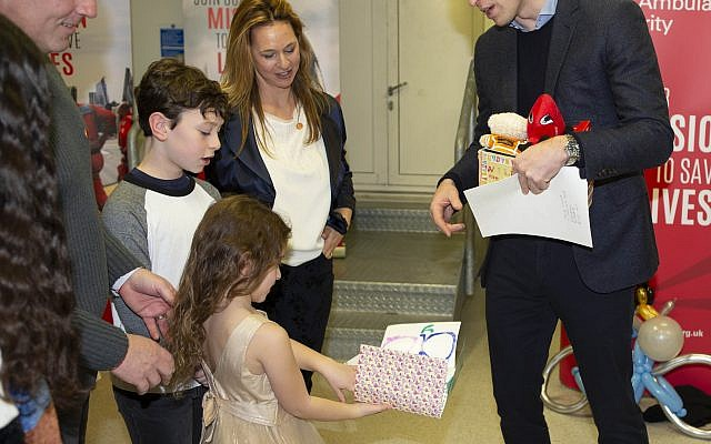 Yair Shahar's family meeting Prince William (Credit: Ian Vogler)