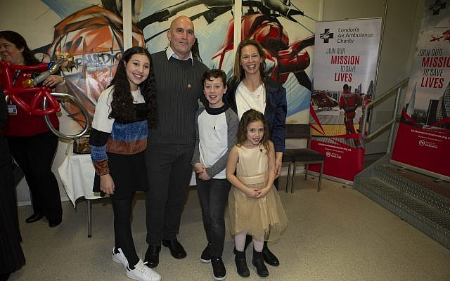 Yair Shahar and his family after meeting Prince William (Credit: Ian Vogler)