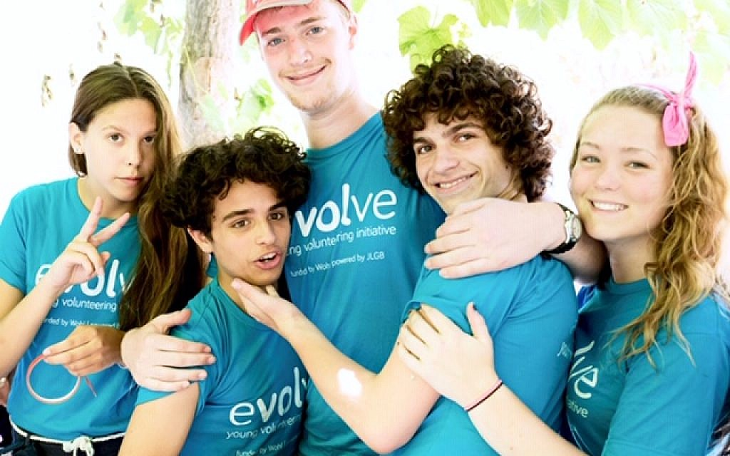 Participants in the Evolve volunteering scheme