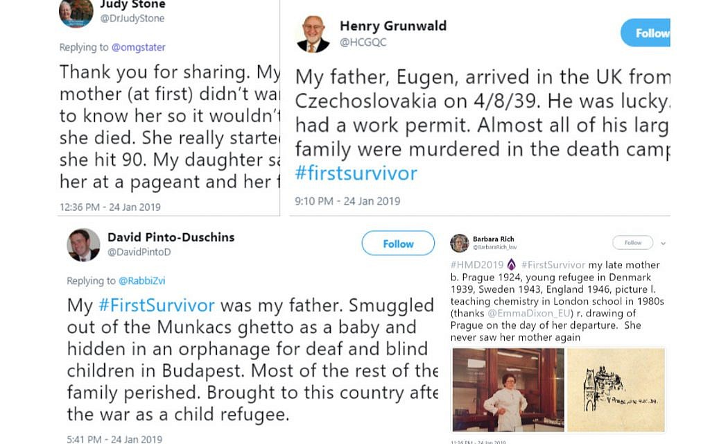 Twitter Users Share Firstsurvivor Experiences For Holocaust