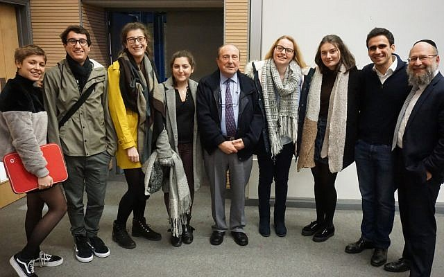 HMD event from 2018, with survivor Henry Schachter at Queen Mary University