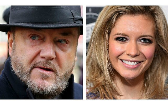 Firebrand former MP George Galloway and Rachel Riley got into a Twitter spat