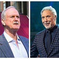 John Cleese and Tom Jones (Source: WIkimedia commons. Authors: Paul Boxley and Raph_PH)