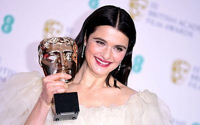 Rachel Weisz with her Best Actress in a Supporting Role Bafta for The Favourite. Credit: Ian West/PA Wire