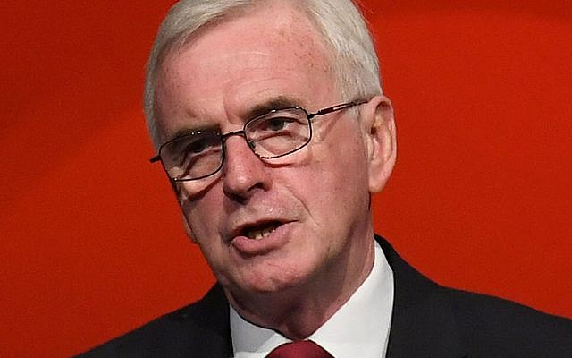 Shadow chancellor John McDonnell. Photo credit: Stefan Rousseau/PA Wire
