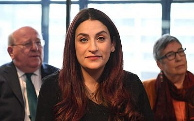 Luciana Berger during a press conference  where she announced her resignation from Labour along with a group of six other Labour MPs. Photo credit: Stefan Rousseau/PA Wire