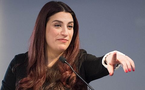 Labour MP Luciana Berger speaks as she announces her resignation during a press conference at County Hall in Westminster, London, along with a group of six other Labour MPs