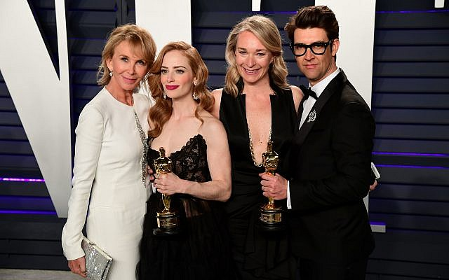 Trudie Styler (left to right), Jaime Ray Newman, Celine Rattry and Guy Nattiv (Credit: Ian West/PA Wire)