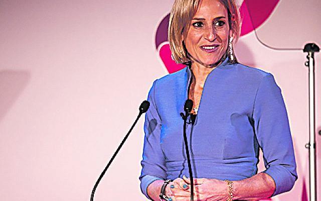 Diners heard BBC News presenter Emily Maitlis  speaks at World Jewish Relief's dinner
