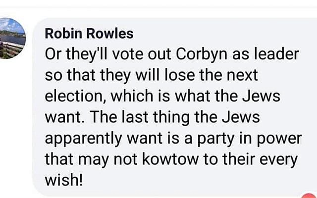 Church Figure Steps Back After Saying Corbyn Wont Kowtow To Jews