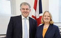 Anne Meadows (right) with Tory Chairman Brandon Lewis