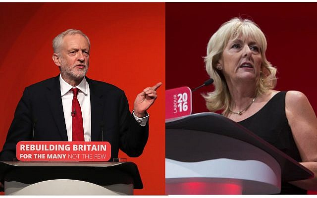 Labour leader Jeremy Corbyn, left, and the party's General Secretary Jennie Formby  Photo credit:  Peter Byrne/PA Wire