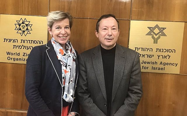 Katie Hopkins with Yigal Palmor