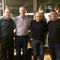 L-R: Moshe Ya'alon, Benny Gantz, Yair Lapid and Gabi Ashkenasi