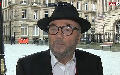 George Galloway interviewed by Sky News
