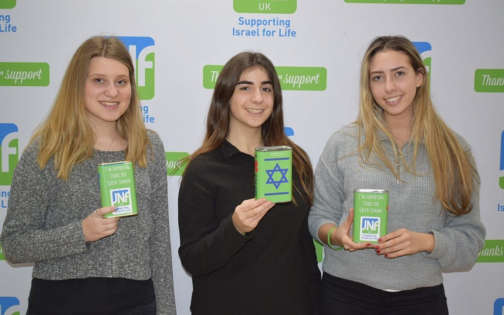 Volunteers help fundraise for JNF UK's Green Sunday initiative.