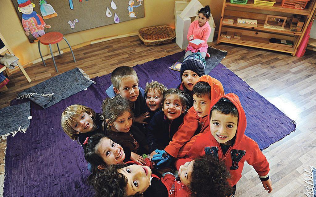 In the kindergarten of Garin Harel in Moshav Zohar in the Eshkol region