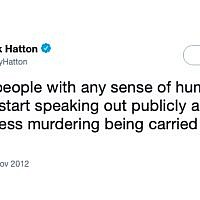 Controversial tweet sent by Derek Hatton