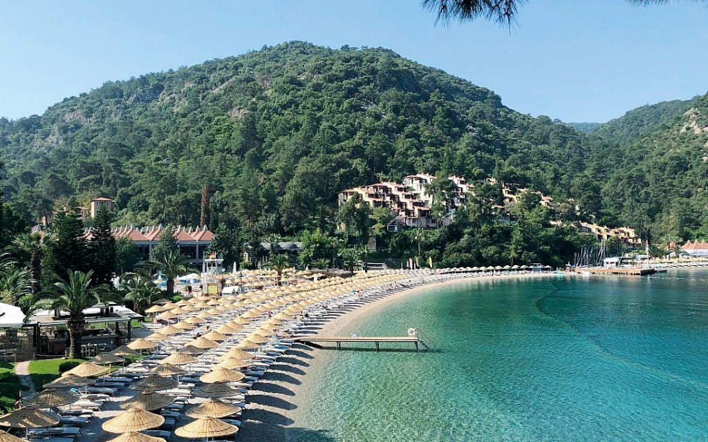 Hillside beach resort