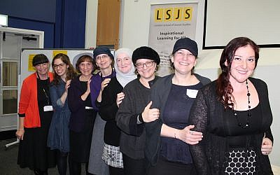 An international line-up of speakers educated participants at the Community Learning Event:  From L to R: Dr Helena Miller, Miriam Lorie, Judy Klitsner, Dr Tamra Wright, Julie Siddiqi, Lindsay Simmonds and Sarah Hass Robinson, together with Jess Kendler, Maureen Kendler's daughter.