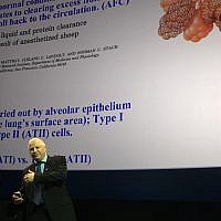 Professor Zahar Azzam presenting at the Science Museum