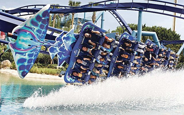 Manta Coaster at SeaWorld