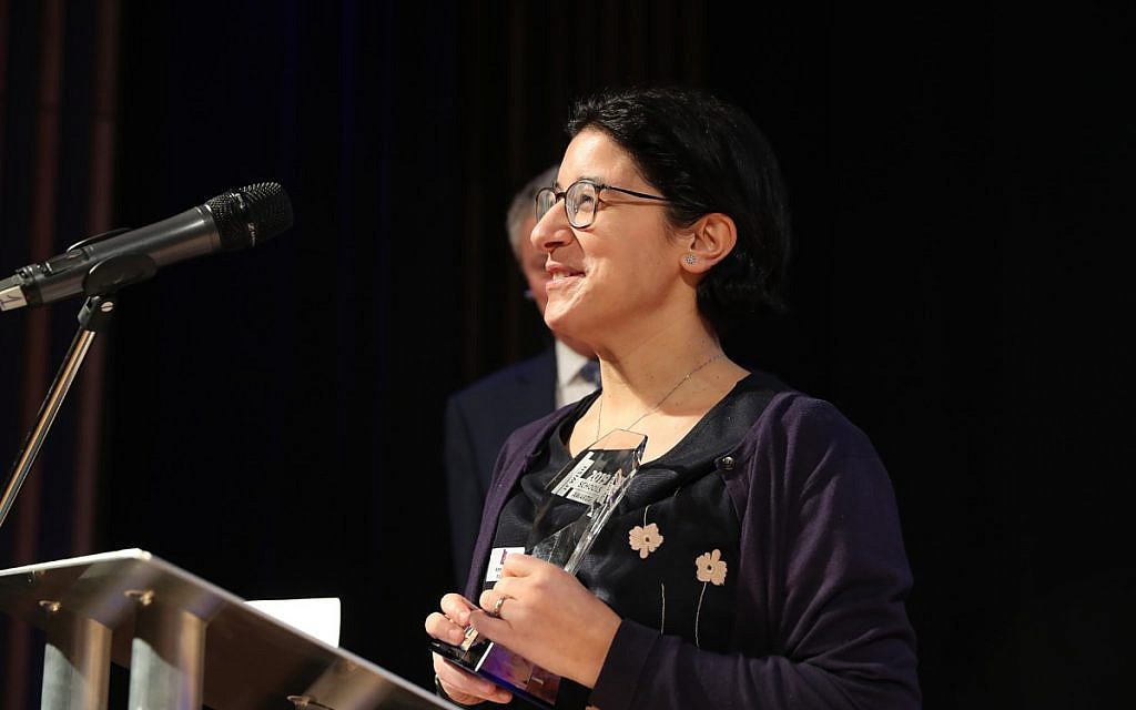 Anna Joseph of JFS, who takes the award for Promoting Excellence in Literacy in a Secondary School (Marc Morris Photography)