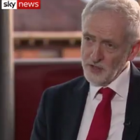 Jeremy Corbyn speaking on Sky News