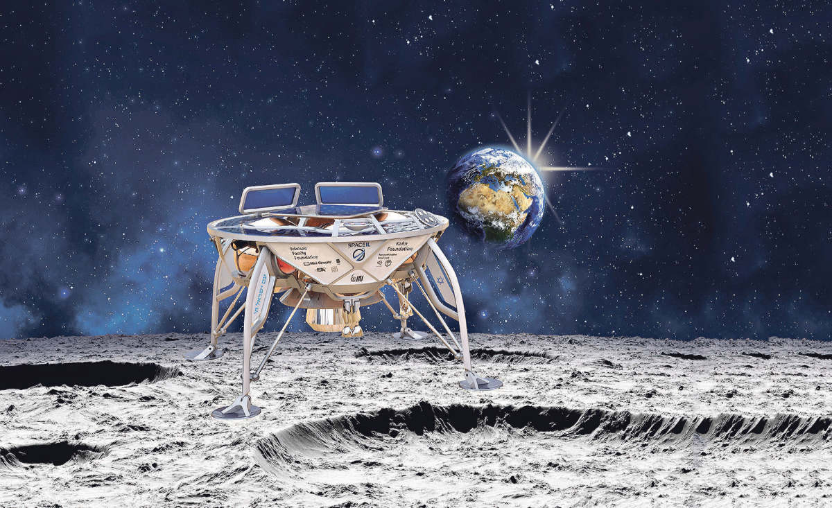 Israeli moon lander launched by SpaceX expected to land in April