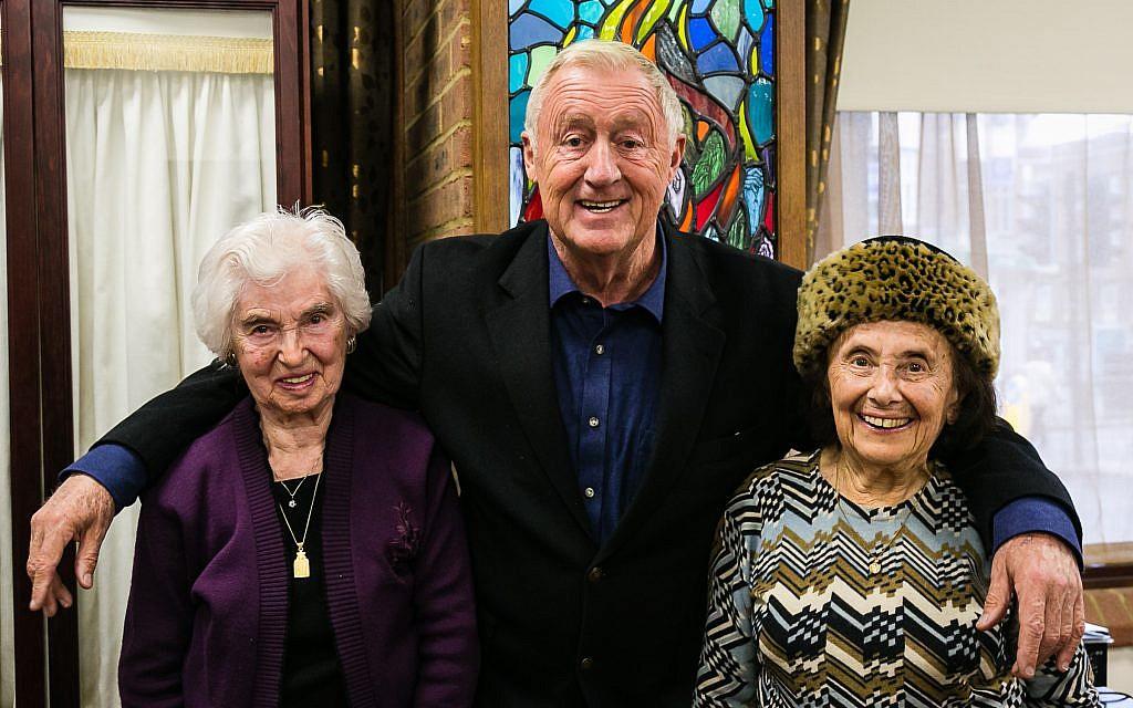 Chris Tarrant with survivors Rene Salt and Lily Ebert