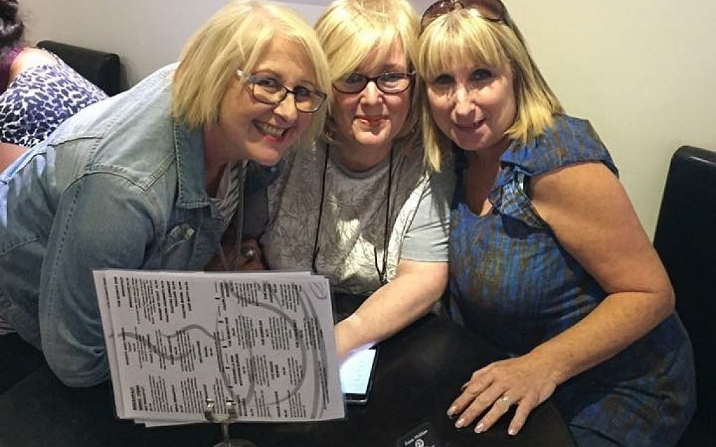 Three friends together in Linda's final weeks, from left to right - Sandie Donovan, Linda Ullah and Rayna Bowman.