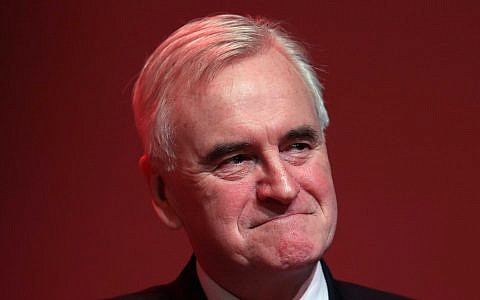 Shadow chancellor John McDonnell. Photo credit: Andrew Milligan/PA Wire